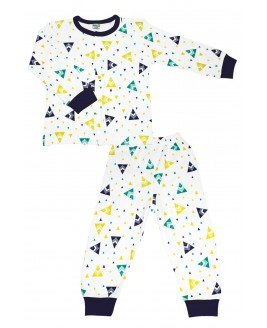 Tent Age Pajamas Set Navy Blue