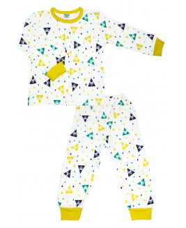 Tent printed Age Pajamas Set yellow