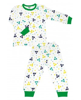 Tent Age Pajamas Set Green
