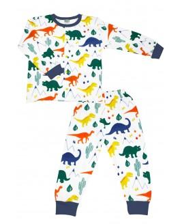 Big Dino Age Pajamas Set Navy Blue