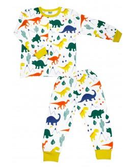 Big Dino Age Pajamas Set Yellow