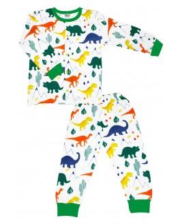Big Dino Age Pajamas Set Green