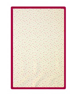 Points Printed Baby Blanket Fuchsia