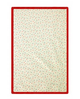 Points Printed Baby Blanket Red