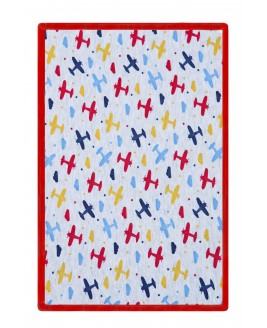 Airplane Printed Baby Blanket Red