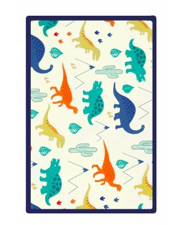 Big Dinosaur Printed Baby Blanket Navy