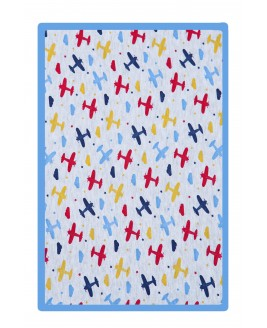 Airplane Printed Baby Blanket Bebe Blue