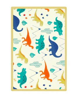Big Dinosaur Printed Baby Blanket Yellow