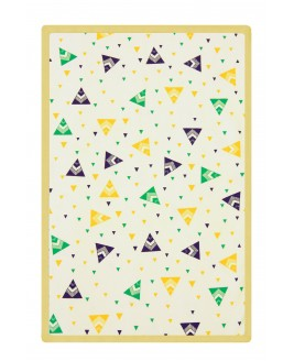 Tent patterned baby blanket Yellow