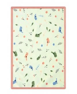 Bird Pattern Baby Blanket Salmon