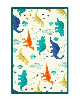 Big Dinosaur Printed Baby Blanket Green