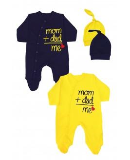Mom + Dad + Me 2 Pack Jumpsuit Navy Blue