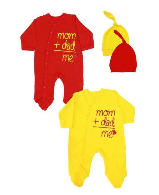 Mom + Dad + Me 2 Pack Yellow