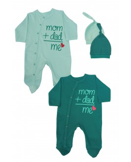 Mom + Dad + Me 2 Pack Jumpsuit Green