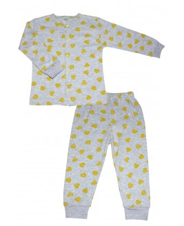 Heart Age Pajamas Set Gray