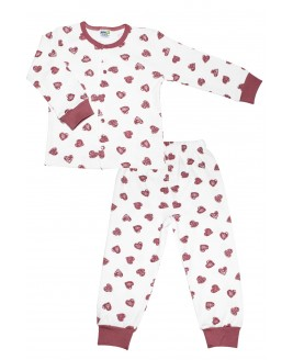 Heart Age Pajamas Set Pink
