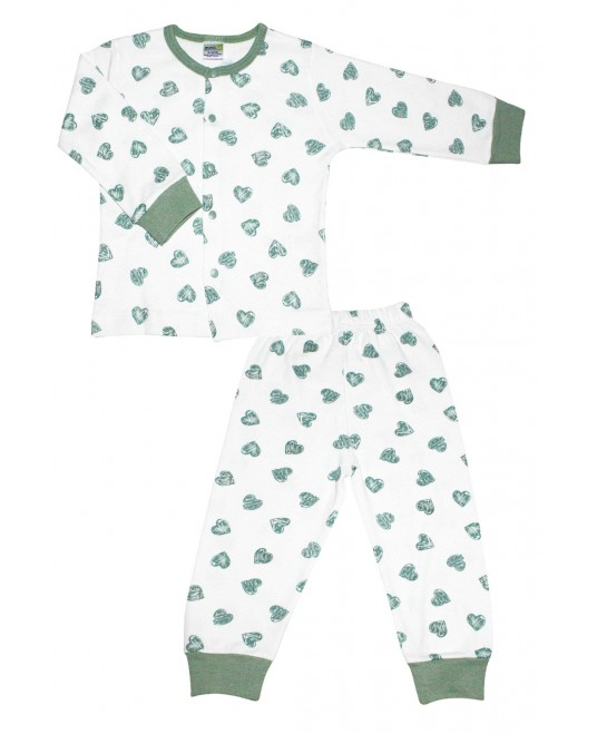 Heart Age Pajamas Set Green