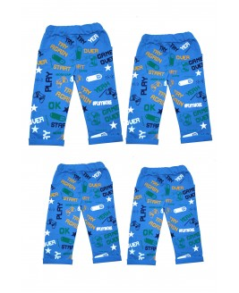 Star Printed 4 Pieces Trousers Blue