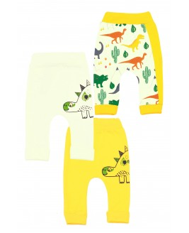 Big Dinosaur 3 Piece Trousers Yellow