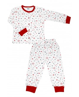 Star Age Pajamas Set Red
