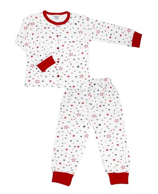 Star Age Pajamas Set Red