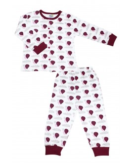 Balloon Age Pajamas Set Bordeaux