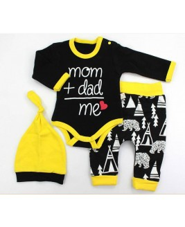 Mom Dad Me 3 Piece Set Black